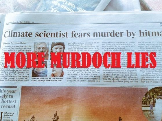 Rupert Murdoch's The Times newspaper in London has viciously verballed a prominent climate scientist in an apparent effort to ridicule and discredit him. https://independentaustralia.net/environment/environment-display/murdoch-media-verbals-climate-scientist-as-conspiracy-theorist,8038