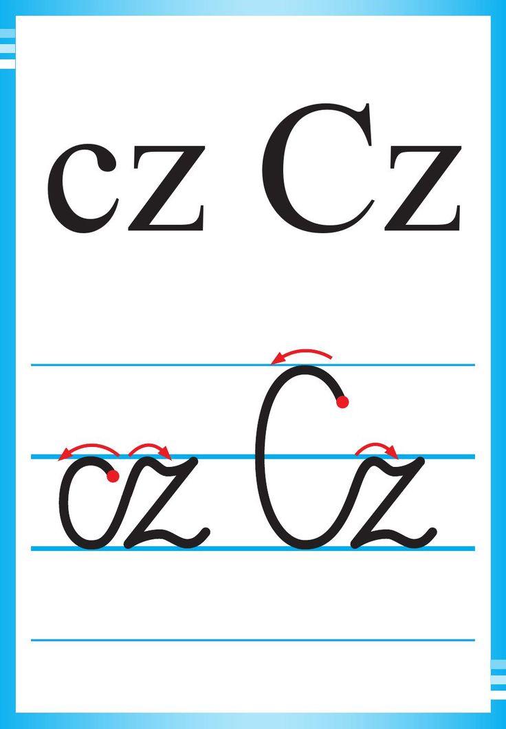 Alfabet polski, pisany dla dzieci do druku 7