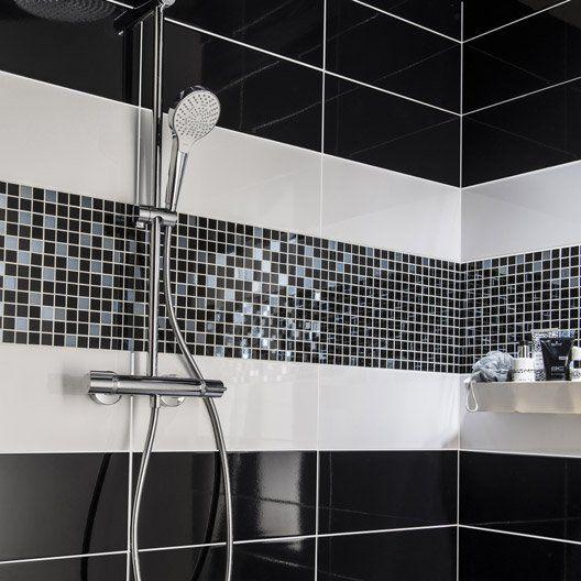 les 25 meilleures idées de la catégorie mosaique salle de bain sur ... - Salle De Bain Mosaique Noire