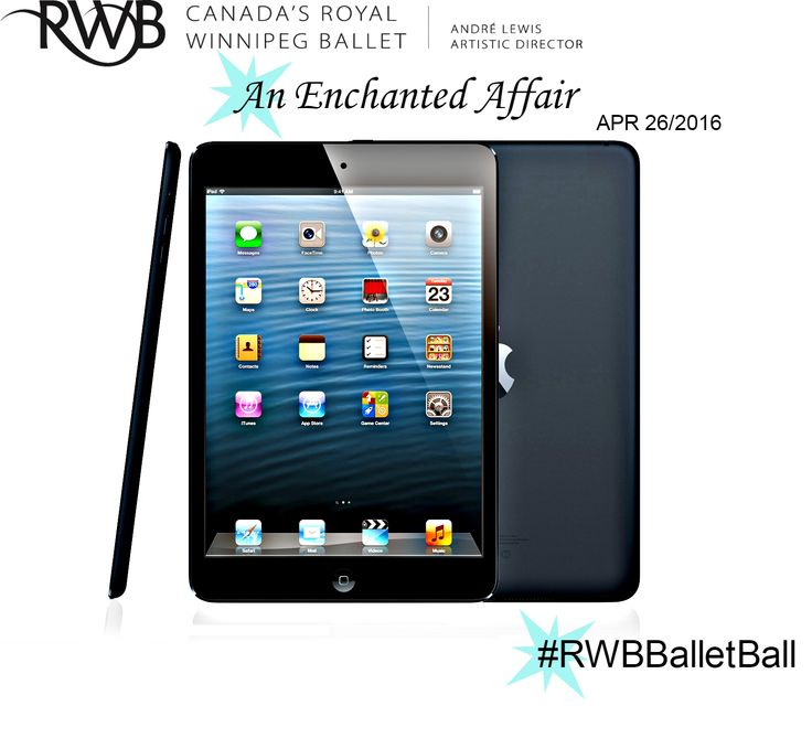 Enter to win this years door prize of a 16GB Space Grey Apple iPad Mini 2 at the 2016 Ballet Ball  #RWBBalletBall