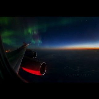 Northern Lights before sunrise