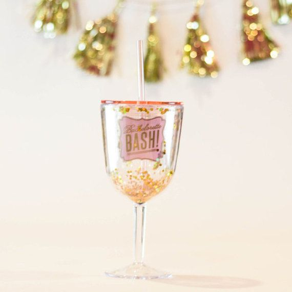 Glitter Bachelorette Party Cup by SwankySips on Etsy