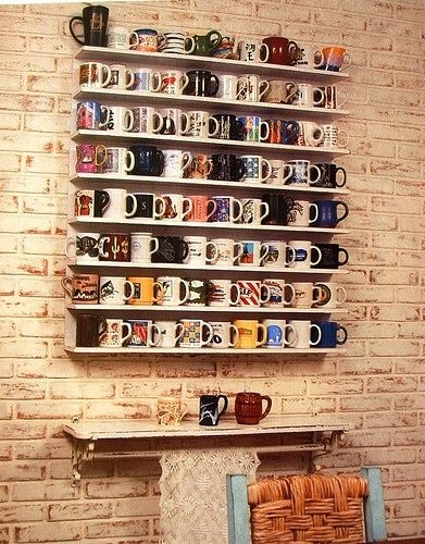 What to do with the collection of coffee mugs that always seem to take over the cupboard!