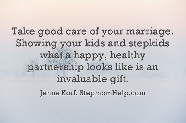 Our number one goal. I want to demonstrate to our children and to my stepson what a healthy, peaceful home and marriage look like.. So they too, can experience what a loving marriage of their own feels like in the future.