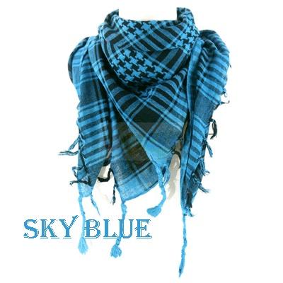 Arab Scarf Shawl Wrap keffiyeh Kafiya BlackSky Blue image by ganlu2010 - Photobucket