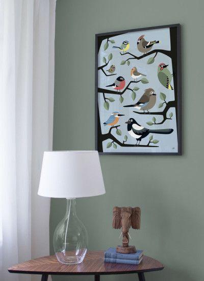 Poster Fågelskådning - 50x70cm