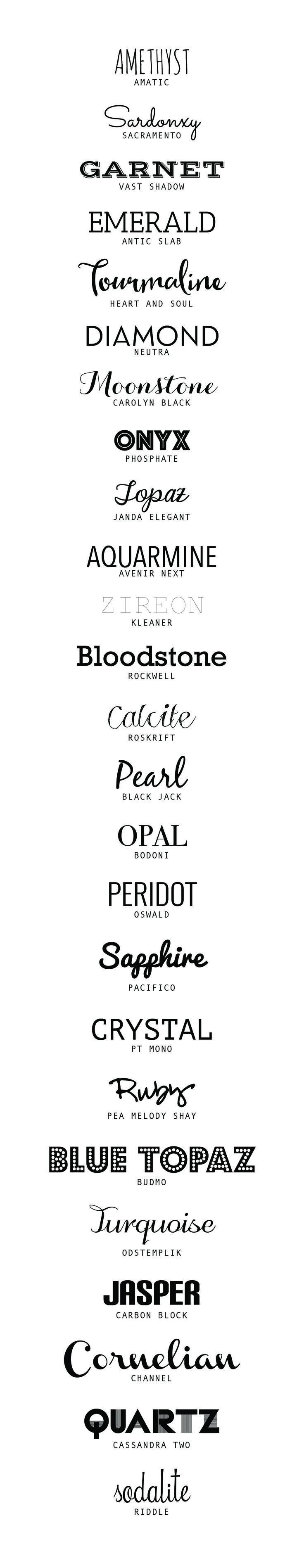 25 of the best Free Fonts | desireedreszer.com