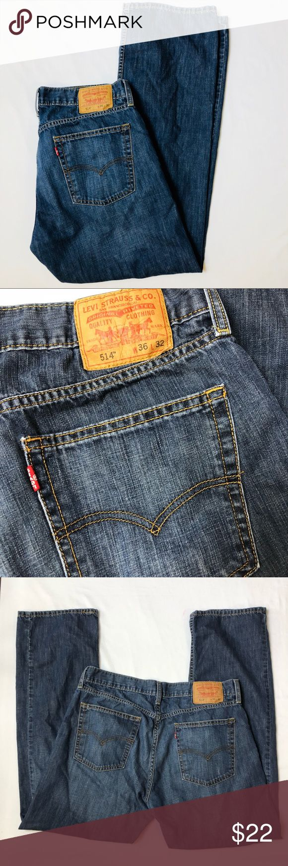 Levis Jeans 36 x 32 514 Slim Straight Levis Jeans 514 Slim Straight 36 x 32 Levi's Jeans