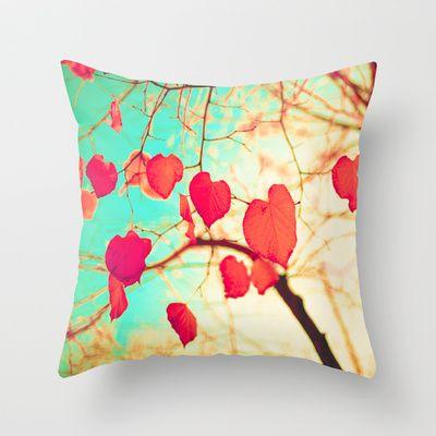 Outdoor Throw Pillows Kmart : Beating heart-shaped leafs Throw Pillow Throw pillows