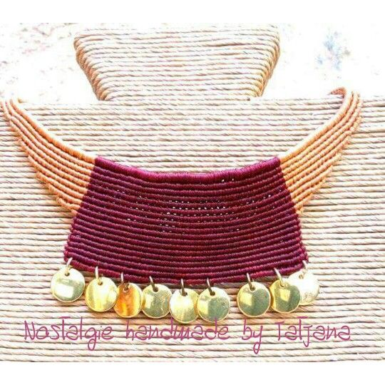 Macrame necklace ... https://www.facebook.com/Nostalgie-Handmade-by-Tatjana-425760884176858/
