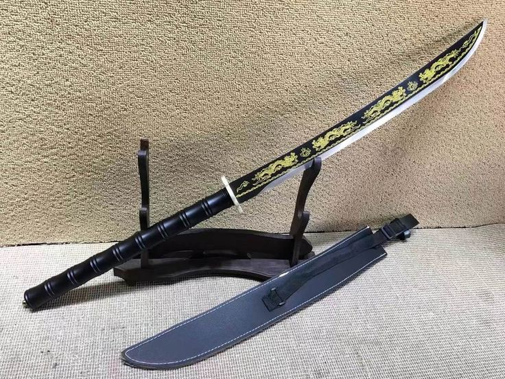 Eight Dragon Sword,High carbon steel blade,Leather