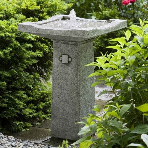Bjorn Bird Bath Fountain - The Asian-inspired Bjorn Fountain is a beautiful asset to any garden and especially to Japanese and Asian gardens. The water flows smoothly into the base...
