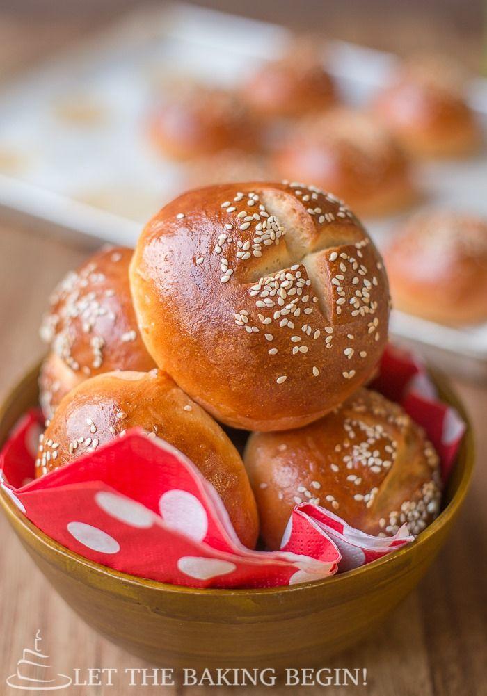 Golden Buttery Sesame Burger Buns