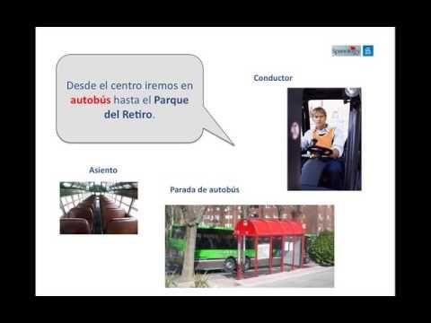 Lesson completely in Spanish ▶ Medios de transporte en la ciudad - YouTube