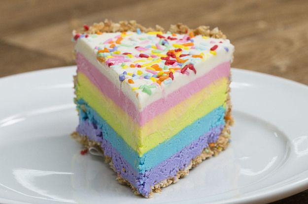 Deixe sua vida mais colorida com este cheesecake!