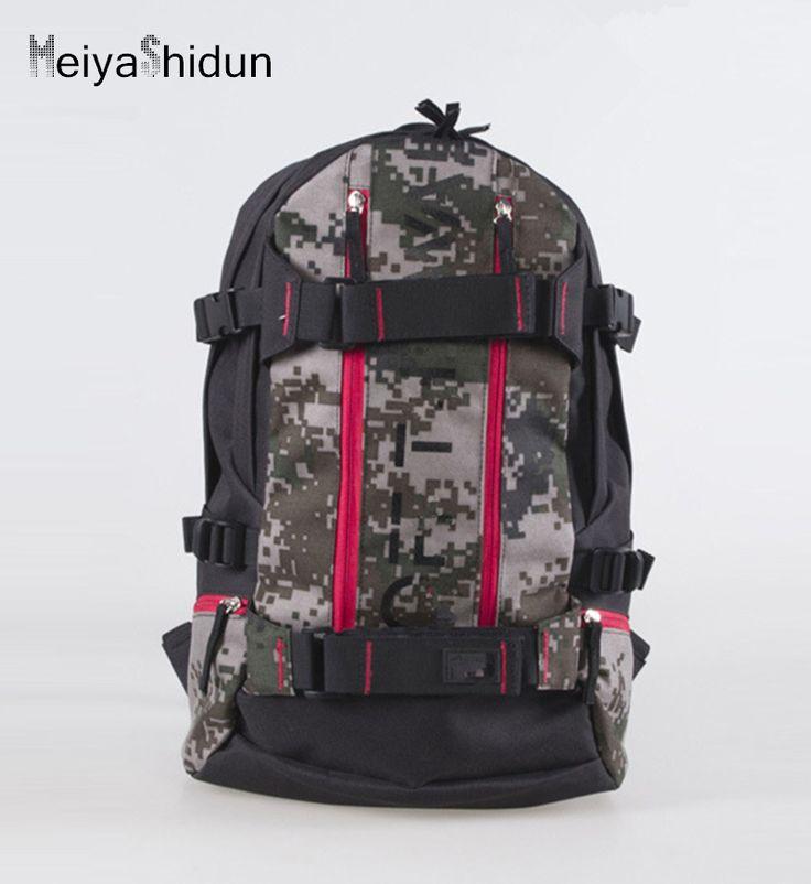 MeiyaShidun Skateboard Backpack outdo Men canvas Backpacks Brand Camouflage Laptop Rucksack School Bag masculina mochila escolar