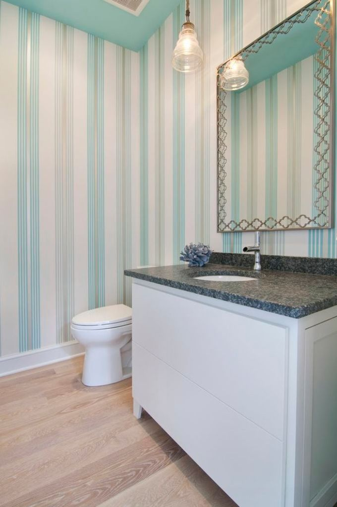 House Of Turquoise Martha O 39 Hara Interiors Powder Bath Wallpapered Bathroom Pinterest