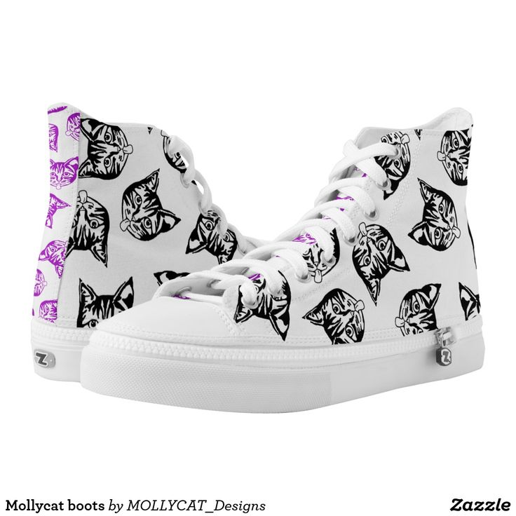 Mollycat boots High-Top sneakers @zazzle #mollycatfinland #cats #blackcats #muddle #catoftheday #catdesigns #catstyle #boots #newlook #newstyles #streetwear #streetcool #urbancool #sick #zazzle