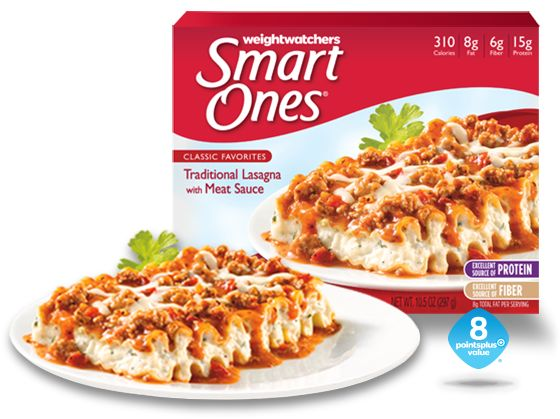 Weight Watchers Smart Ones Traditional Lasagna With Meat Sauce Classic Favorites Pinterest