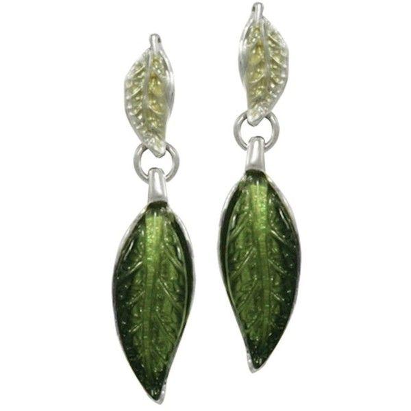 Willow Green Enamel Silver Tone Drop Pierced Earrings ($24) ❤ liked on Polyvore featuring jewelry, earrings, green earrings, silvertone jewelry, enamel jewelry, enamel earrings and earring jewelry