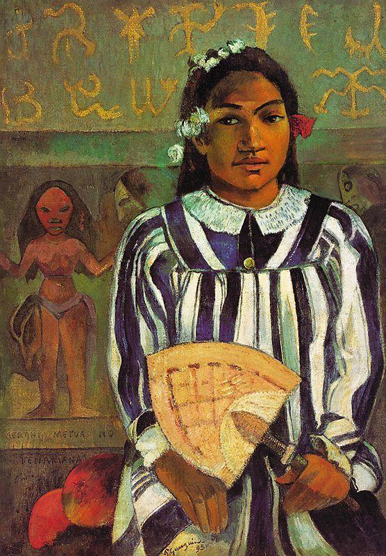 Paul Gauguin, GLI ANTENATI DI TEHAMANA, 1893, 76 cm x 54 cm, Colore ad olio, Art Institute of Chicago