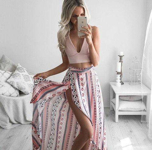 Maxi Skirt + Crop Top
