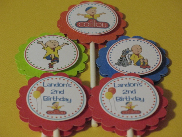 Caillou Personalized Cupcake Toppers. $10.00, via Etsy.