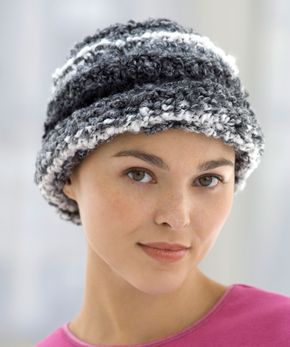 Knit Chemo Cloche Knitting Pattern   Red Heart