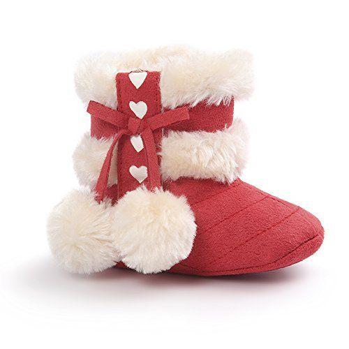 Auwer Toddler Infant Newborn Baby Boots Soft Sole Prewalker Shoes Anti-Slip Winter Warm Snow Boots