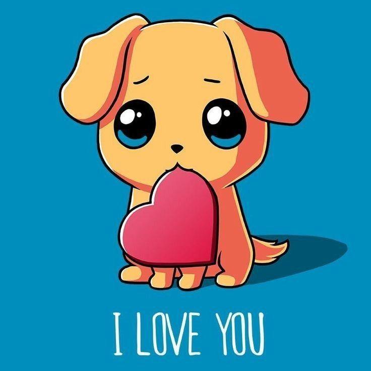 Dog Love Cute Kawaii Drawings Cute Animal Drawings Puppy Drawing