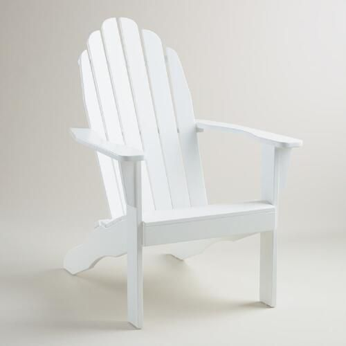 One of my favorite discoveries at WorldMarket.com: Antique White Adirondack Chair