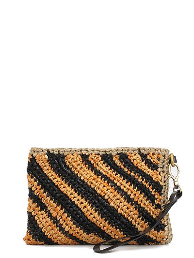 Lorenza Gandaglia crochet clutch bag