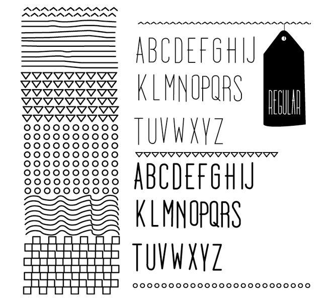 Doodleista - a free font