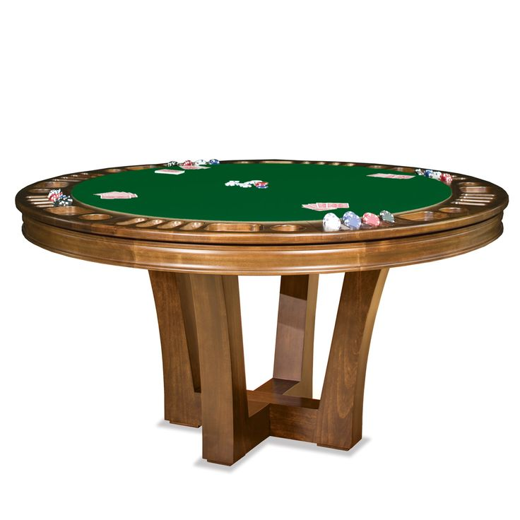 metro reversible poker table by thos. baker (with beige felt and dark espresso wood - $3000)
