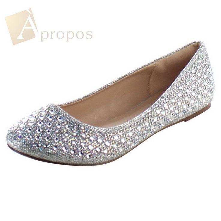 Ballerinas Slipper Damenschuhe Flats Flach Gold Silber Apropos