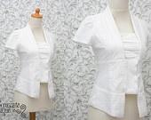 LOVE THIS!  White York Skirt Cotton Lace Mori Girl. $65.70, via Etsy.