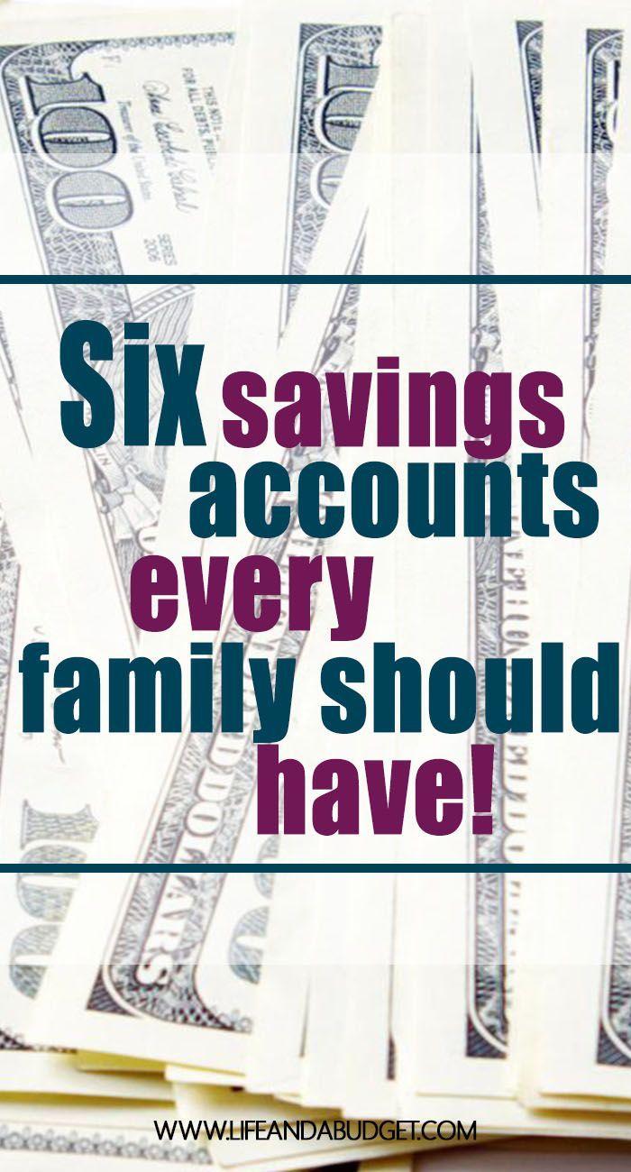 6 Savings Accounts Every Family Needs to Have via @lifeandabudget