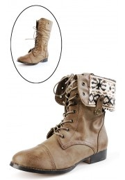 Sharp1 Nordic Lining Combat Boots TAUPE