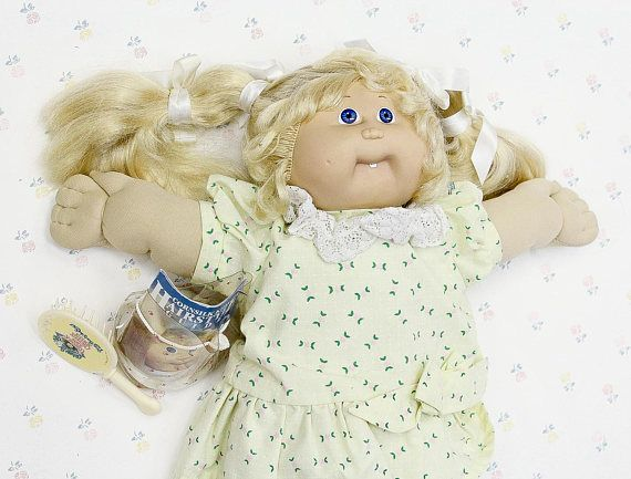1986 Cabbage Patch Kid Cornsilk Kids Girl Doll 80s Toys For Etsy Cabbage Patch Kids Real Life Baby Dolls Cabbage Patch Dolls