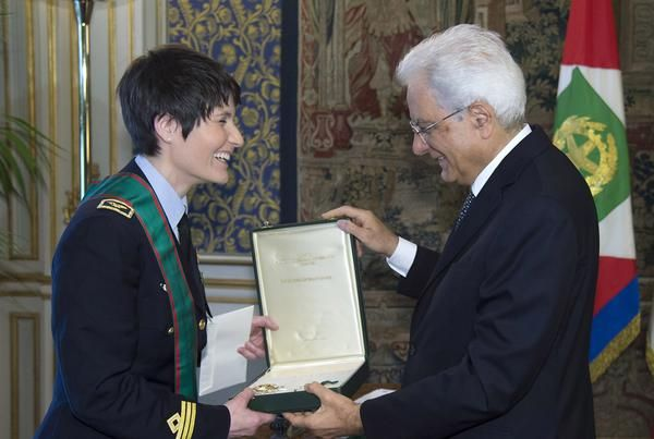 Mattarella nomina Cristoforetti Cavaliere di Gran Croce | Notiziein.it