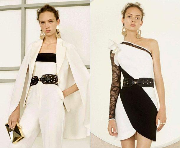 Elie Saab - черно-белые платья