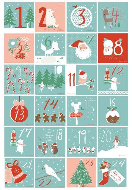Подборка advent календарей и стикеров для их оформления - Раннее развитие - Babyblog.ru
