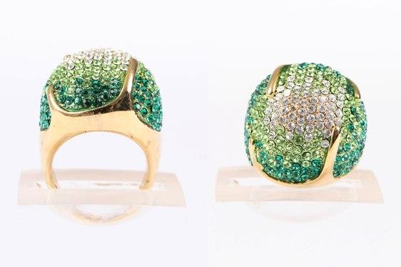 Green Crystal Ball Ring