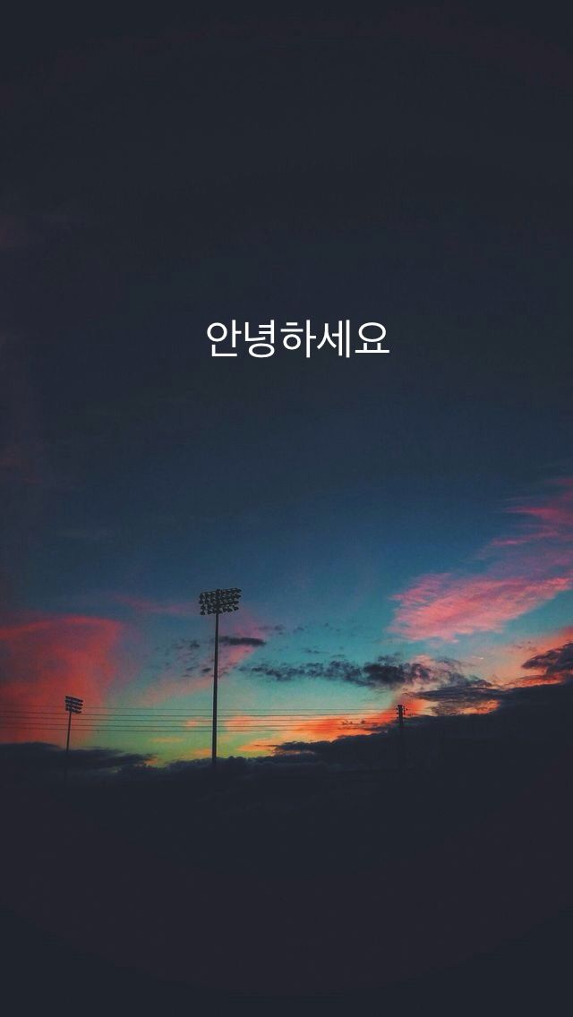 안녕하세요 aesthetic wallpaper Wallpaper ponsel, Wallpaper