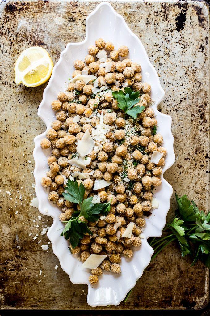 Parmesan + Herb Baked Chickpeas #splendideats