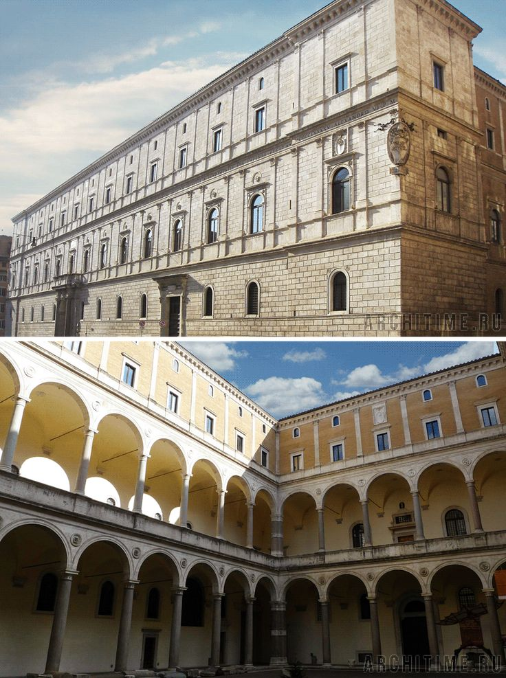 Донато Браманте. Палаццо делла Канчеллерия. (Авторство Браманте не доказано) Рим, Италия (1499-1511 гг.).