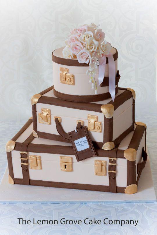 Vintage Luggage Wedding Cake