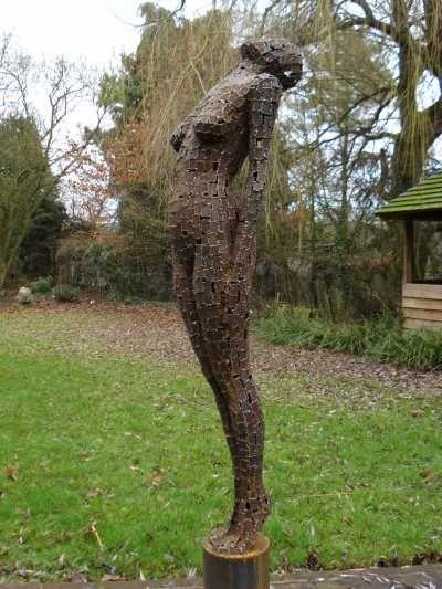 Mild Steel Plate Garden Sculpture By Artist Rick Kirby Titled: U0027The Call  (Big