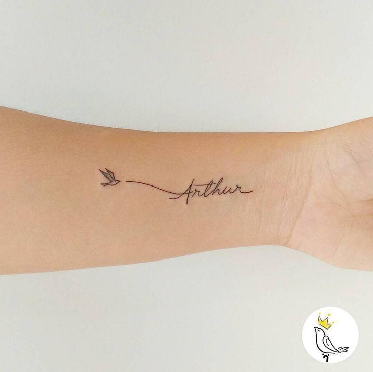 15 inspirations pour un tatouage prénom – #inspirations #minimaliste #pour #pr…
