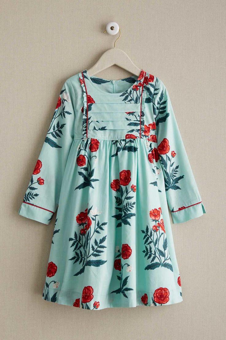 Girls Painted Poppy Dress | Chasing Fireflies